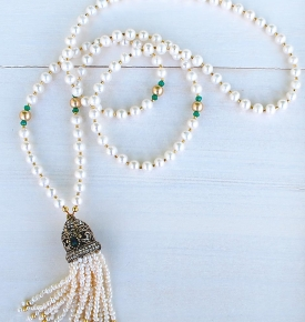 Pearl tassel Mala