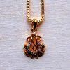 22k gold ganesh pendant