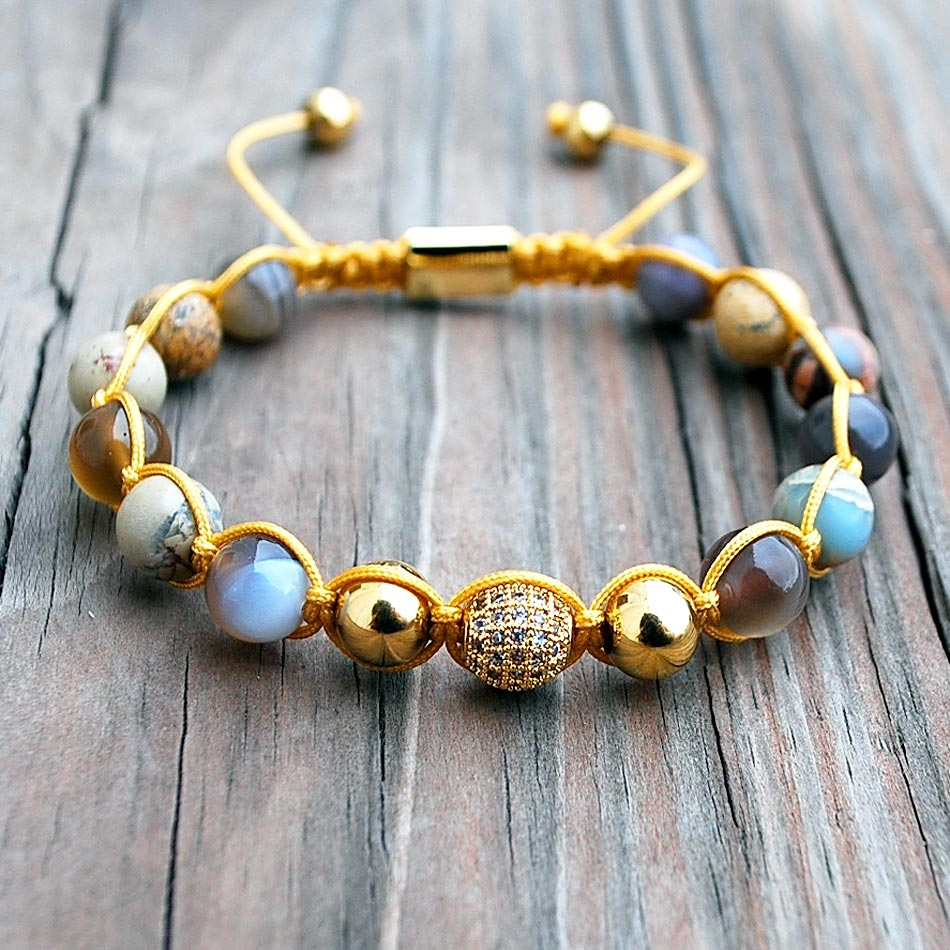 Botswana Amber Cord Bracelet