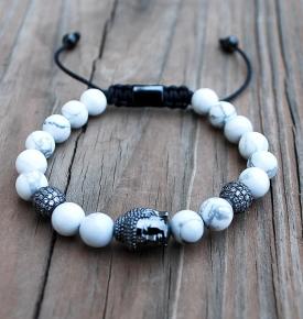 Buddha Howlite Bracelets