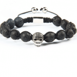 Tibetan Skull Lava bracelet