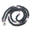 amythyst and onyx stretch mala