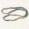 Moss Agate Stretch prayer beads
