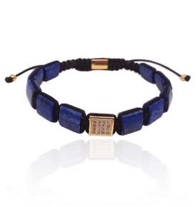Square Mala Bracelet Lapis