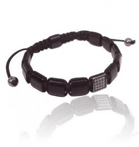 square mala bracelet onyx