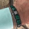 Square Mala Bracelet malachite