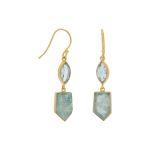 blue topaz earrings gold