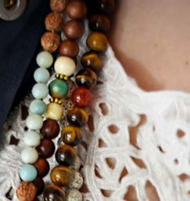 Buddhist Prayer Beads- Tassel