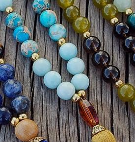 Zodiac Birthstone Mala Beads