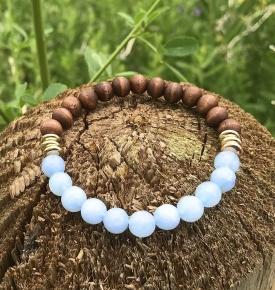 Essential Oil Bracelet- Aqua Jade